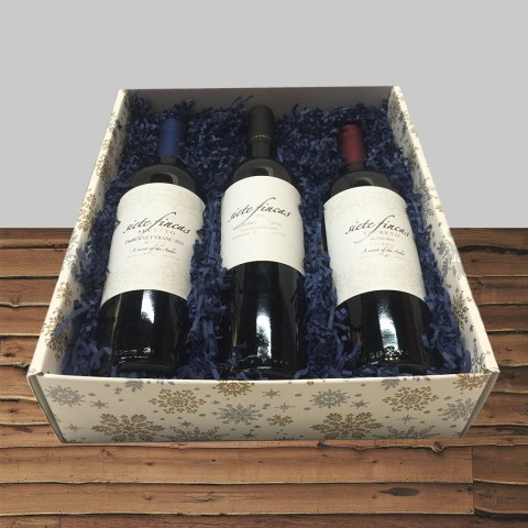 SIETE FINCAS SUPERIOR COLLECTION MENDOZA, ARGENTINA 3-BOTTLE GIFT BOX
